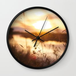 Golden Wall Clock