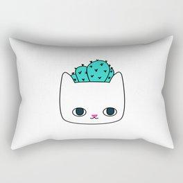 Cactus Kitty Planter Rectangular Pillow