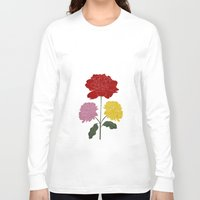 peonies Long Sleeve T-shirts featuring PEONIES by Alba Rivadulla Duró