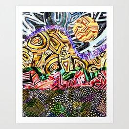 Opposites Attract Landscape Art Print