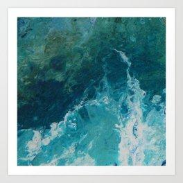 Ocean View, abstract acrylic fluid painting Art Print