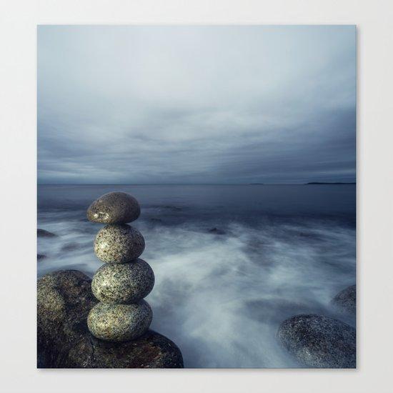 Balanced in the Sea Canvas Print