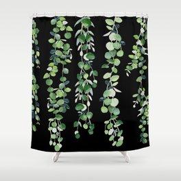 Eucalyptus Sur Fond Noir Shower Curtain