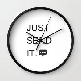 Just Sent It - Text Messaging Wall Clock