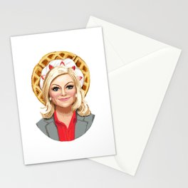 Leslie Knope, Goddess of Girl Power & Waffles Stationery Cards
