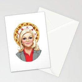 Leslie Knope, Goddess of Girl Power & Waffles Stationery Cards