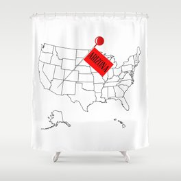 Knob Pin New Arizona Shower Curtain