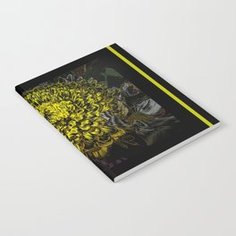Black yellow art Notebook