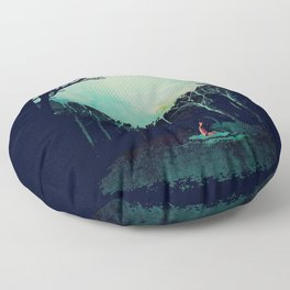 Deep in the forest Floor Pillow
