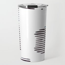 Rolled lines Travel Mug