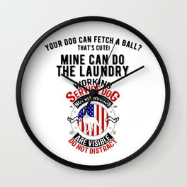 United States Service Dog For The Disabled And The Blind Wall Clock