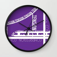 physics Wall Clocks featuring Typed Force by Asif Mallik