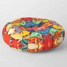 Senbazuru rainbow Floor Pillow