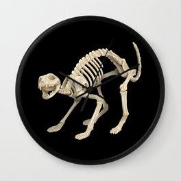 Cat Skeleton Wall Clock