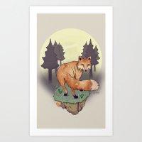 Snoqualm Fox Art Print