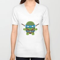 leonardo V-neck T-shirts featuring Leonardo by LAckas