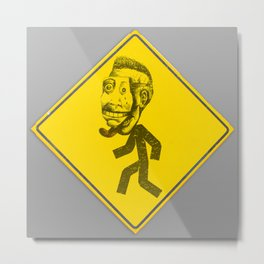 Mask man crossing Metal Print