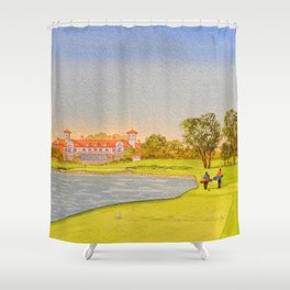 TPC Sawgrass Golf Course 18th Hole And Clubhouse Shower Curtain