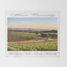 Wine County - McLaren Vale, South Australia Throw Blanket