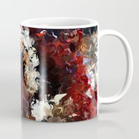 novelty Mugs featuring Jasmine and Columbine Abstract by Moody Muse