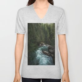 The Lost River - Pacific Northwest Unisex V-Neck