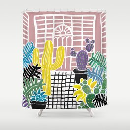 Cacti & Succulent Greenhouse Shower Curtain