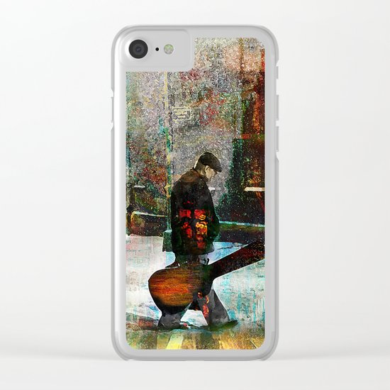 The guitarist Clear iPhone Case