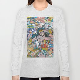Woman of Wonder - Comic Art Long Sleeve T-shirt