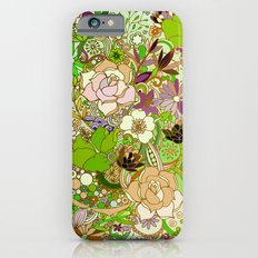 Detailed summer floral pattern, green iPhone 6s Slim Case