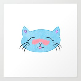 Blushing Cat Art Print