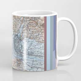 Firenze, Italia = Florence, Italy antique map 1800s Coffee Mug