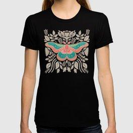 Moth Floral   Multicolor T-shirt