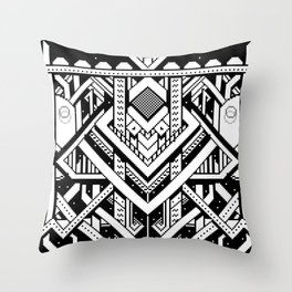 Pixel Space Contraption Throw Pillow