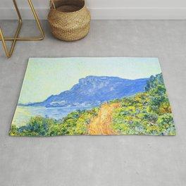 La Corniche near Monaco by Claude Monet Rug