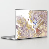 red riding hood Laptop & iPad Skins featuring Lttle Red Riding Hood by Pictographe