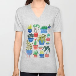House Plants Unisex V-Neck