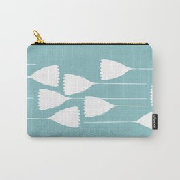 blue and white cutout Carry-All Pouch