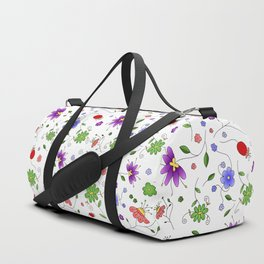 Colorful Spring Flowers Duffle Bag