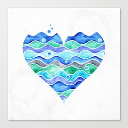 A Sea of Love (white) Canvas Print