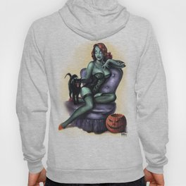 Halloween Zombie Girl Pin Up Hoody