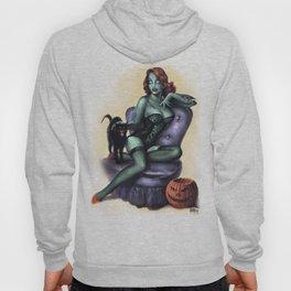 Halloween Zombie Girl Pin Up Hoody