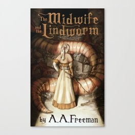 The Midwife and the Lindworm - Title Version Canvas Print