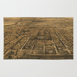 Vintage Pictorial Map of San Jose CA (1875) Rug