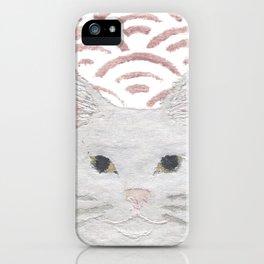 Cat, White Cat, Modern Japanese, Asian iPhone Case