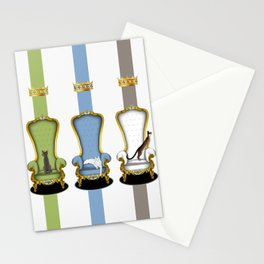 Cats on Thrones Stationery Cards