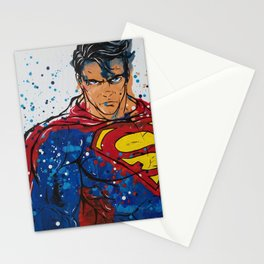 Superman Melted Crayon Painting Stationery Cards