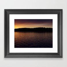 quiet evening Framed Art Print