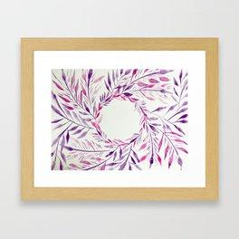 Flower Spiral Framed Art Print