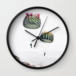 Flying Cacti Wall Clock