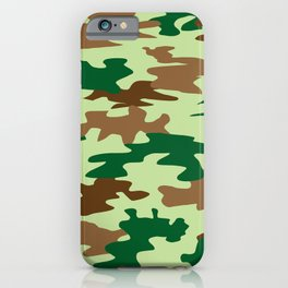 Camouflage Print Pattern - Greens & Browns iPhone Case